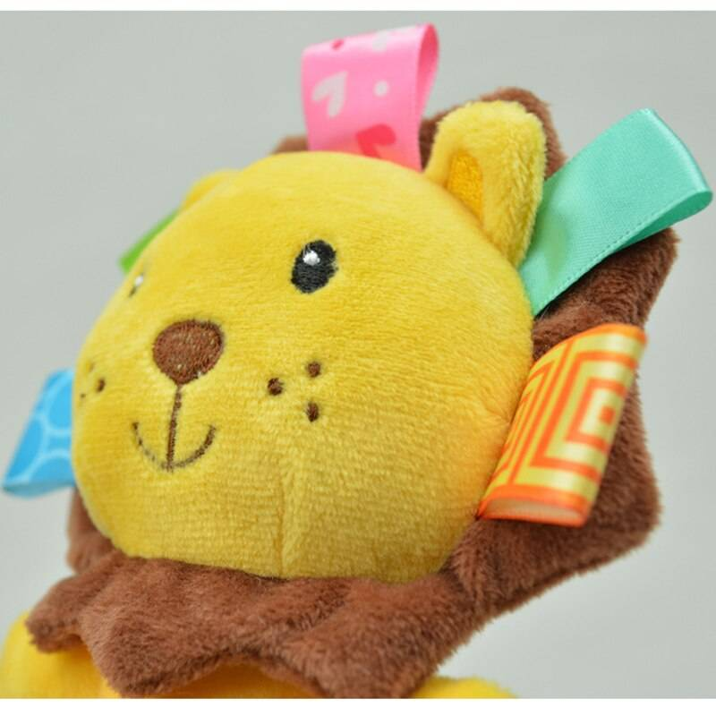 Cartoon Animal Baby Rattle and Plush Toy