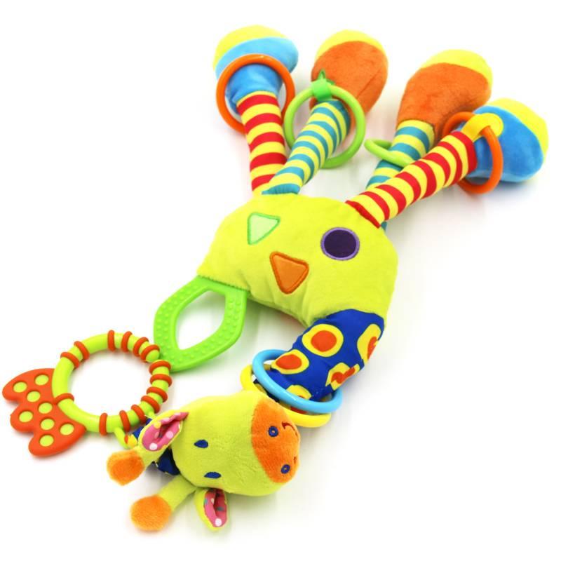Soft Giraffe Animal Baby Rattle and Plush Toy