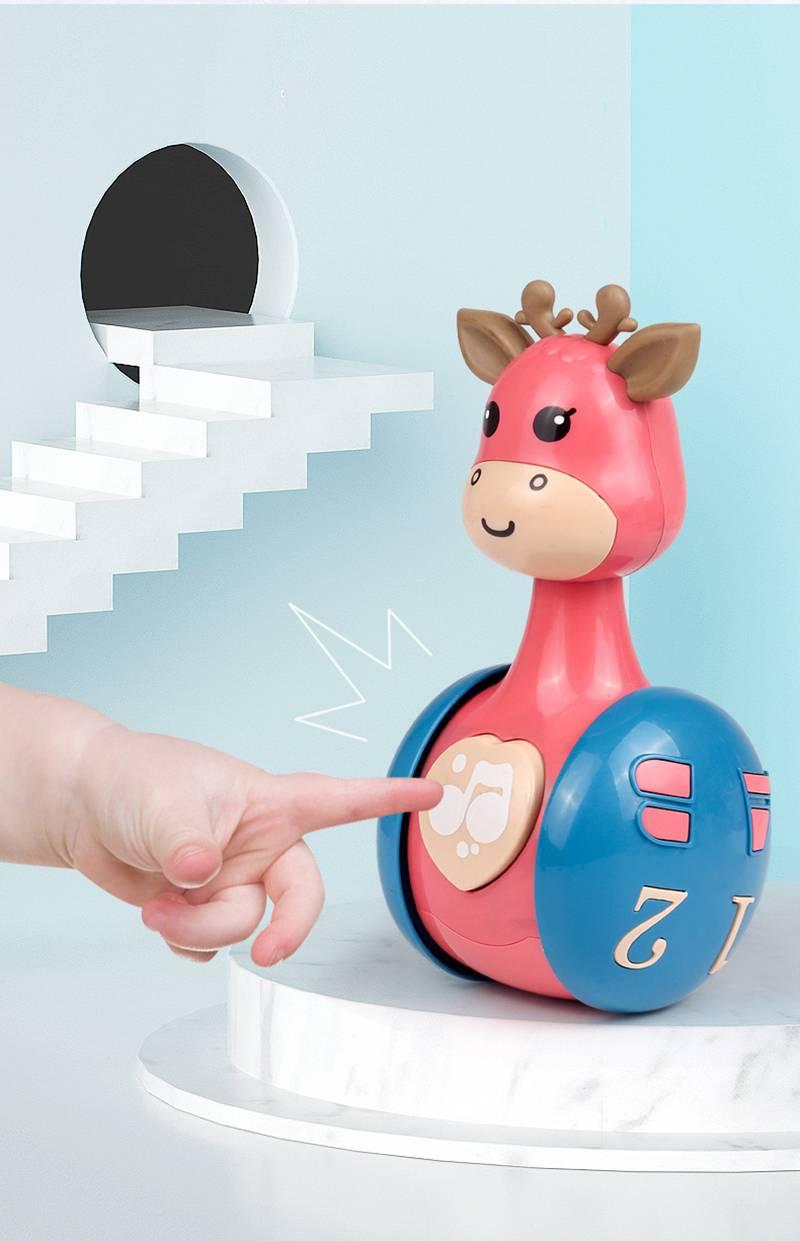 Sliding Deer Baby Rattle Toy