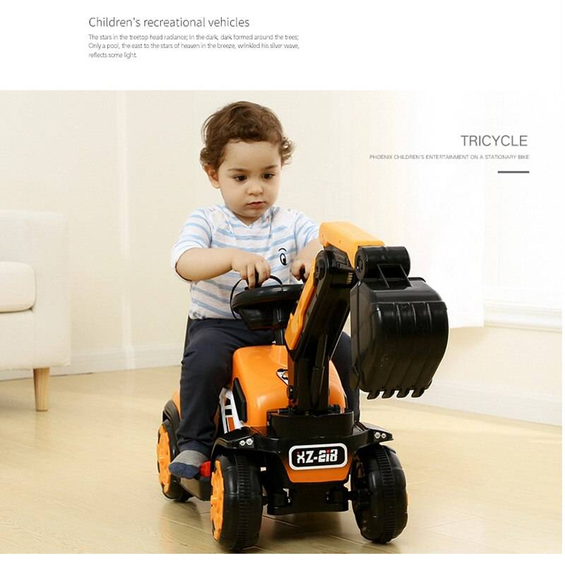 Electric Excavator Ride On Car Toy For Child