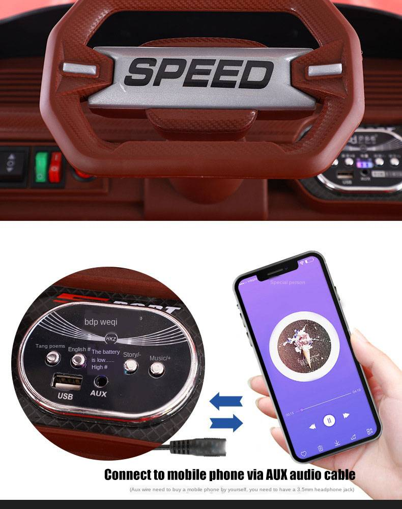 Mobile Phone intelligent Ride On Remote Control Electric Car