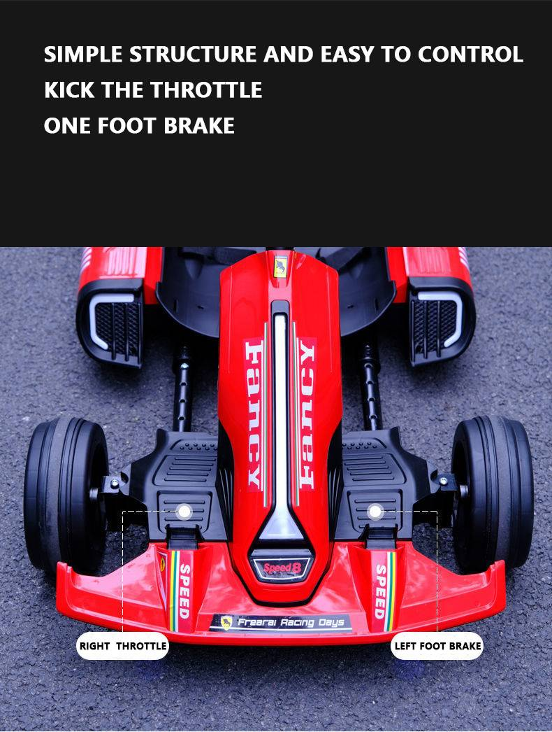 Four-Wheel Ride On Electric Racing Kart Car Toy