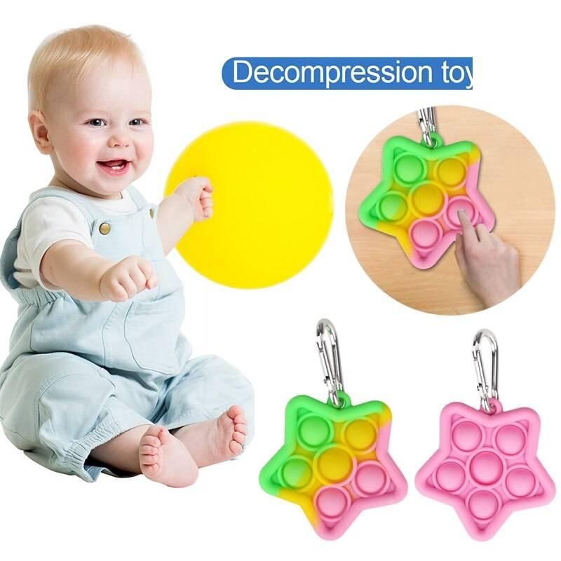 Push Bubble Antistress Silicone Fidget Toy