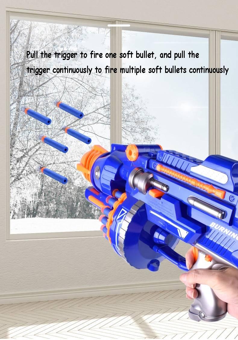 Realistic Gun Toy for 6.5cm Nerf Gun Darts