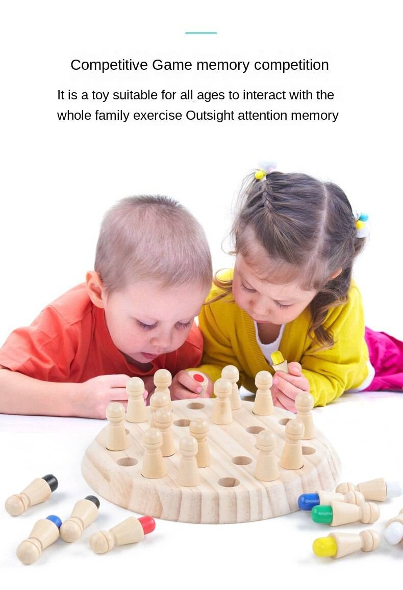 Wooden Memory Match Stick Chess Toy
