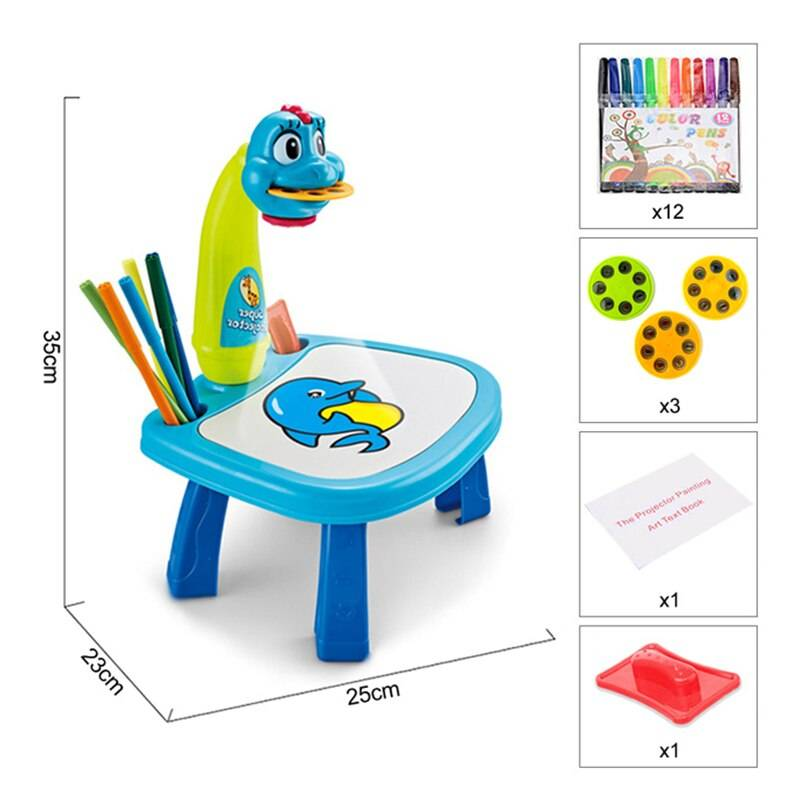 Led Projector Painting Art Drawing Board for Kids