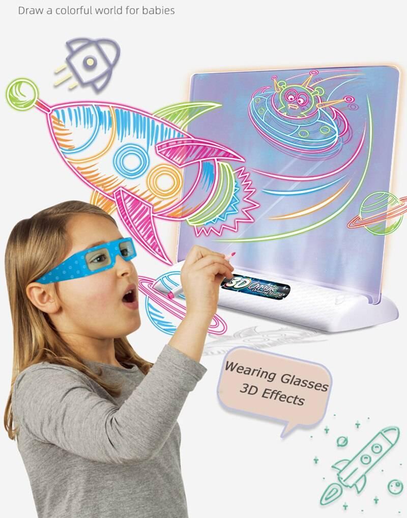 Soft Lighting Magic Drawing Board for Kids