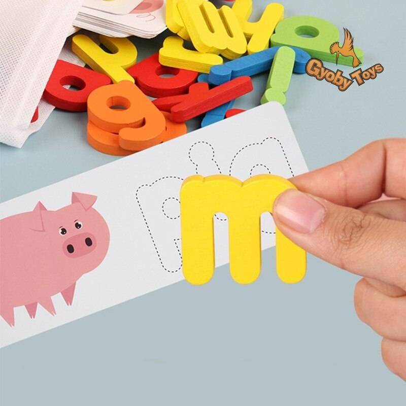 Wooden English Alphabet Puzzle Educational Toy GYOBY® TOYS