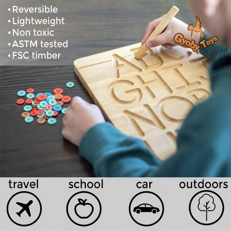 Wooden Alphabet Tracing Board Educational Toy GYOBY® TOYS