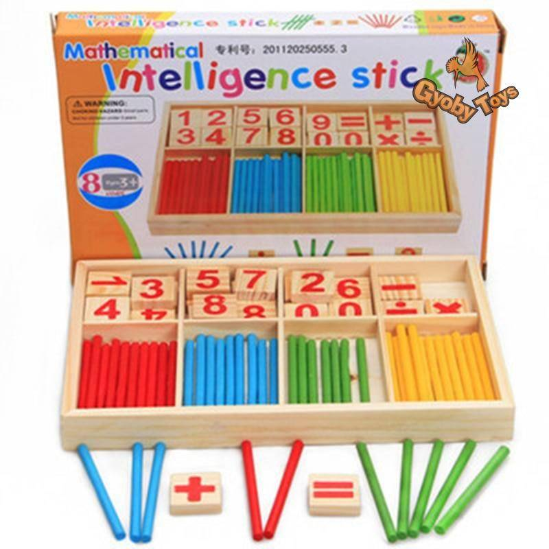 Colorful Bamboo Counting Sticks Math Toy for Toddler GYOBY® TOYS