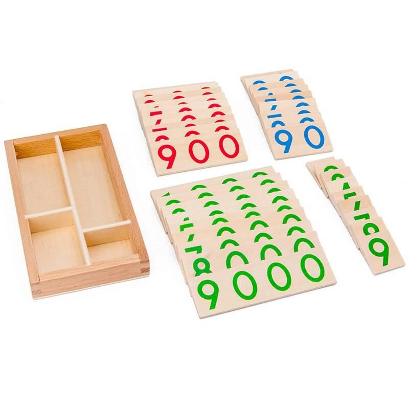 Wooden Numbers Math Toy for Preschool Children