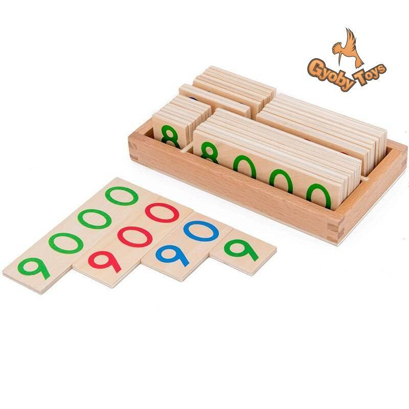 Wooden Numbers Math Toy for Preschool Children GYOBY® TOYS