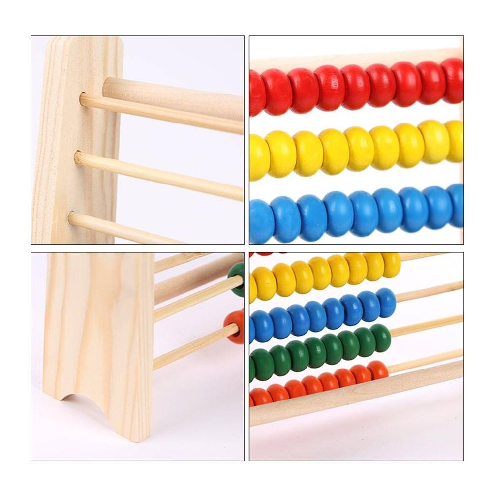 Classic Wooden Abacus Math Toy for Toddlers and Kids