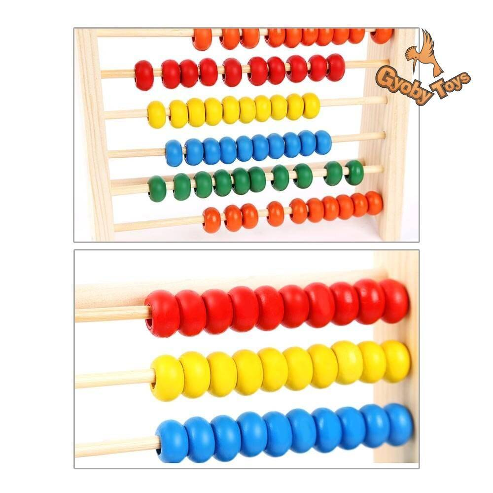 Classic Wooden Abacus Math Toy for Toddlers and Kids GYOBY® TOYS