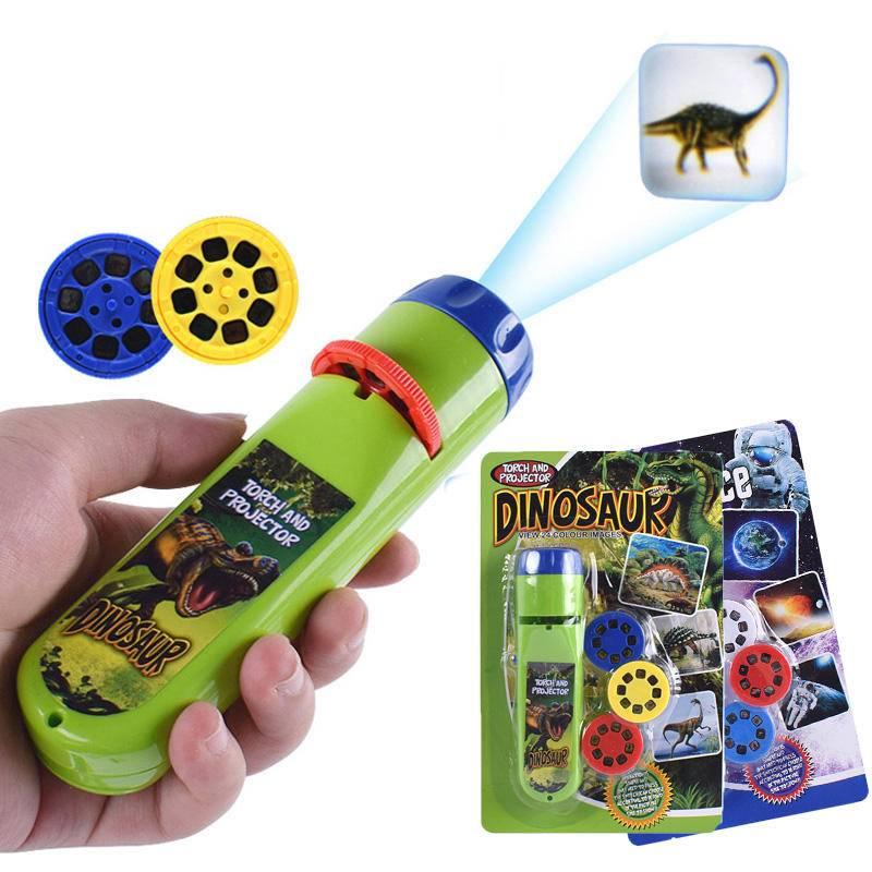 Balleenshiny Parent-child Interaction Puzzle Early Education Luminous Toy Animal Dinosaur Child Slide Projector Lamp Kids Toys