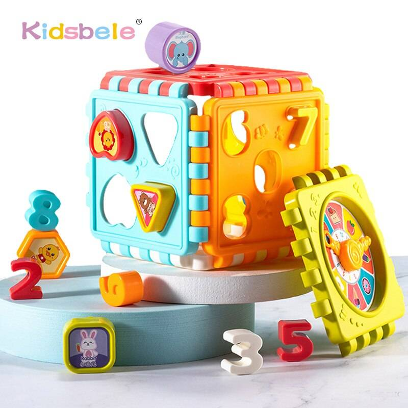 Baby Activity Cube Toys Shape Sorting Toddler Early Learning Educational Toys Infant First Blocks Set Colorful Number Sorter GYOBY® TOYS