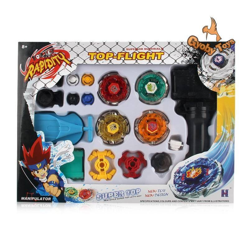 Beyblade Metal Fusion Spinning Tops Toy with Dual Launchers GYOBY® TOYS