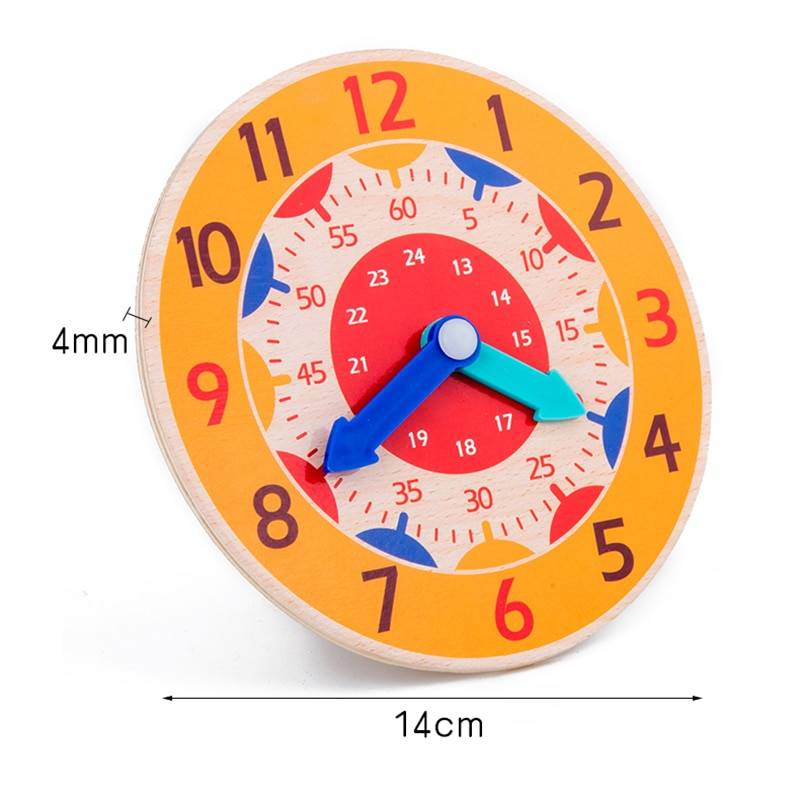 Children Montessori Wooden Clock Toys Hour Minute Second Cognition Colorful Clocks Toys for Kids Early Preschool Teaching Aids GYOBY® TOYS