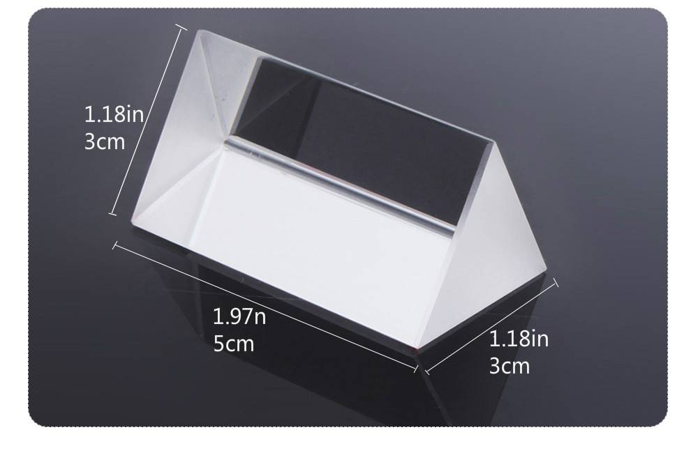 Kids Physics Stem Science Toys Glass Reflecting Triangular Color Prism Learning Educational Toys for Children Light Spectrum