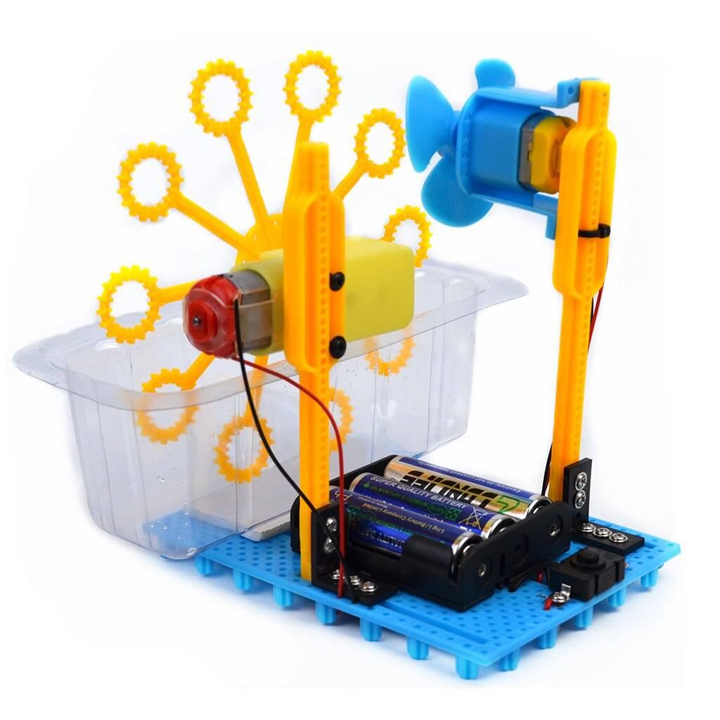 Children Educational DIY Automatic Bubble Machine Science Experiment Kits Educational Toys