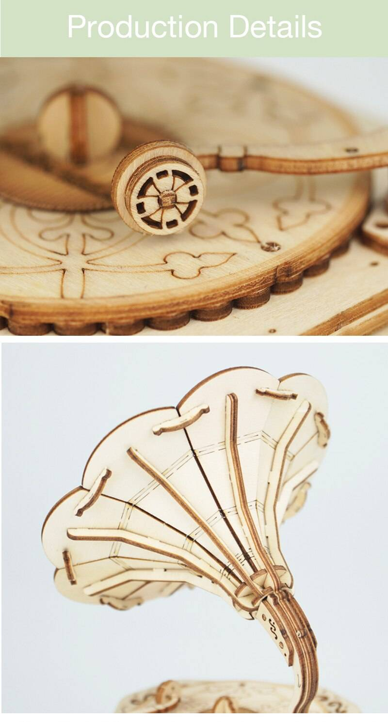 Gramophone 3D Wooden Puzzle Kits Toys