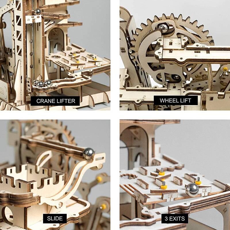 Marble Parkour 3D Wooden Puzzle Kits Toys