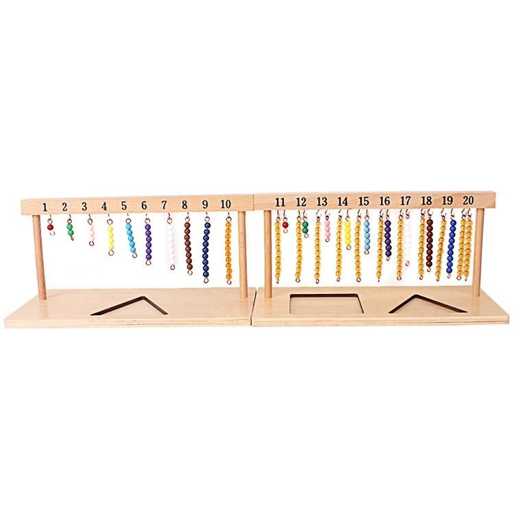 Number Hanger and Color Bead Stairs
