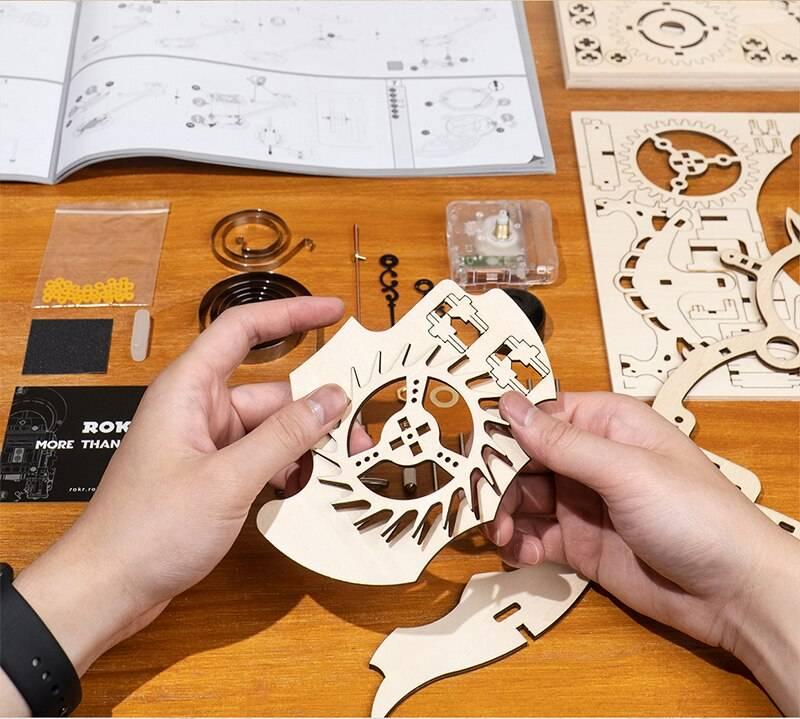 Owl Clock 3D Wooden Puzzle Kit Toys