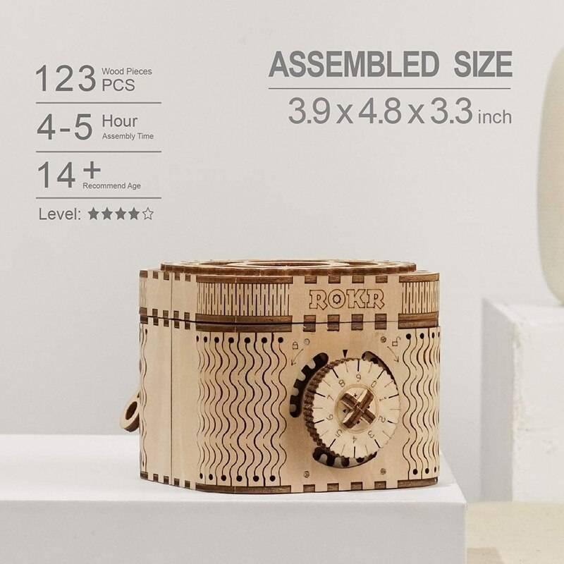Password Treasure Box 3D Wooden Puzzle Kit Toys