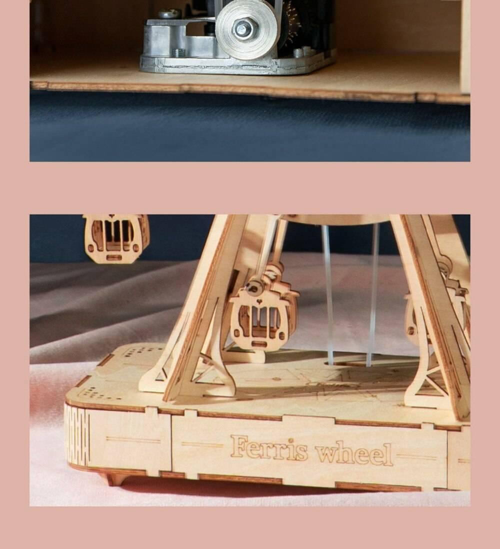 Rotatable Ferris Wheel 3D Wooden Puzzle Kits Toys