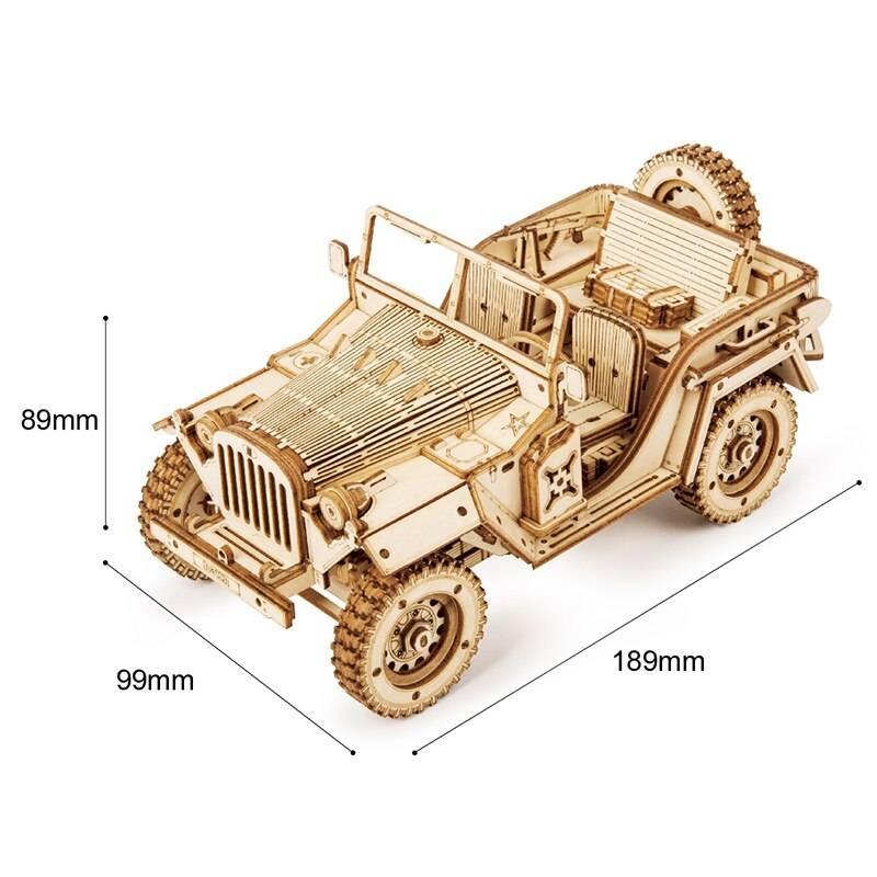 Transportation Model 3D Wooden Puzzle Kit Toys
